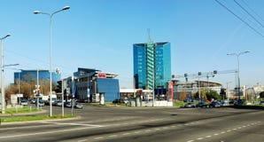 Zverynas区在下午时间的维尔纽斯 免版税库存照片