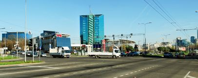 Zverynas区在下午时间的维尔纽斯 免版税库存图片