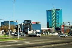 Zverynas område i Vilnius på eftermiddagtid Arkivbild
