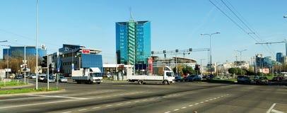 Zverynas område i Vilnius på eftermiddagtid Royaltyfri Bild