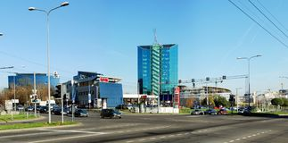 Zverynasdistrict in Vilnius in middagtijd Royalty-vrije Stock Foto's