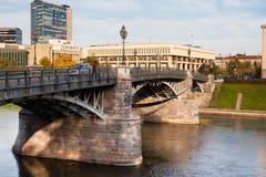 Zveryno桥梁在维尔纽斯 免版税库存图片