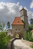 Zvikov castle. Entrance to the Zvikov castle. Cloudy skies Stock Photo