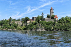 Free Zvikov Castle On The Shore Of The Water Reservoir Stock Photos - 95813733