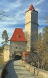 Zvikov gatehouse and tower Royalty Free Stock Image