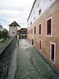 Zvolen城堡,斯洛伐克设防墙壁  免版税库存图片