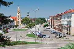 Zvolen, Σλοβακία, 16η Τον Ιούνιο του 2012: Τετραγωνικό SNP στοκ εικόνα με δικαίωμα ελεύθερης χρήσης