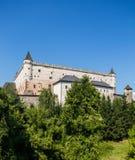 Zvolen, Eslovaquia 6 DE AGOSTO DE 2015 Zamok de Zvolensky del castillo de Zvolen fotos de archivo