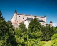 Zvolen, Eslovaquia 6 DE AGOSTO DE 2015 Zamok de Zvolensky del castillo de Zvolen foto de archivo libre de regalías