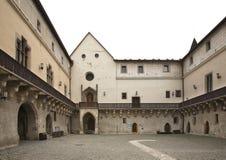 Zvolen slott i den Zvolen staden slovakia royaltyfri foto