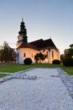 Zvolen, Slovakia. Church in the main square of Zvolen, Slovakia Royalty Free Stock Photography