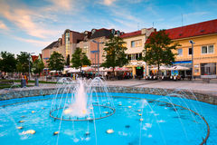 Zvolen, Slovakia. Main square in the town of Zvolen, Slovakia royalty free stock images
