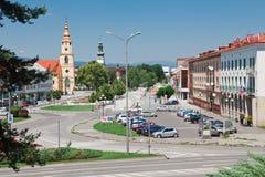 Zvolen, Slowakei, 16. Juni 2012: Quadrat SNP lizenzfreies stockbild