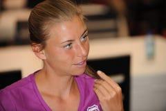 Zvonareva Vera at Rogers Cup 2009 (9) Stock Image