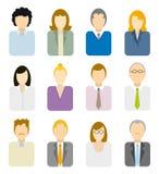 Geschäftsleute Ikonen Lizenzfreie Stockbilder