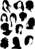 Zwölf Frisuren der schwarzen Frau Lizenzfreie Stockfotos