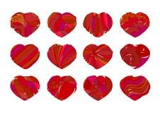 zwölf Herzen stock abbildung