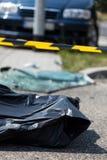 Zwłoki po wypadku samochodowego Zdjęcie Royalty Free