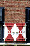 Zwaanendael Museum. Distinctive shutters of the Zwaanendael Museum, Lewes, Delaware, USA. The museum is modeled after the town hall of Hoorn, Netherlands Royalty Free Stock Photos
