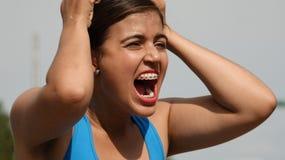 Zwaar de Tienerwijfje van Latina Stock Fotografie