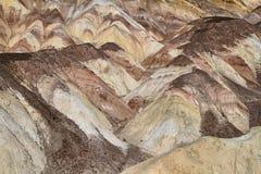 Zwaar Geërodeerde Randen in kunstenaarspalet, het Nationale Park van de Doodsvallei Stock Afbeelding