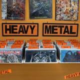 Zwaar metaal vinylverslagen stock foto