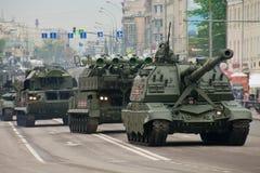 Zwaar militair voertuig Stock Foto's