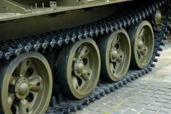 Zwaar tankspoor Stock Foto