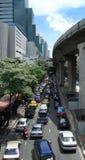 Zwaar verkeer in Bangkok Royalty-vrije Stock Fotografie