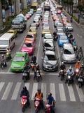 Zwaar verkeer in Bangkok Royalty-vrije Stock Foto