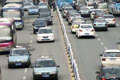 Zwaar verkeer in China Royalty-vrije Stock Afbeeldingen