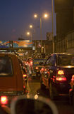 Zwaar verkeer in Kaïro Stock Foto