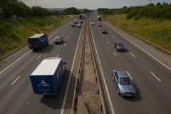 Zwaar verkeer op de M1 Autosnelweg Royalty-vrije Stock Afbeelding
