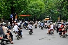 Zwaar verkeer in Vietnam Royalty-vrije Stock Fotografie