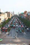 Zwaar verkeer in Xi'an, China stock afbeeldingen