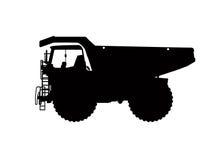 Zwaar vrachtwagensilhouet Stock Foto's