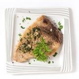 Zwaardvissenlapje vlees van hierboven Royalty-vrije Stock Afbeelding