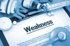 zwakheid MEDISCH concept Stock Afbeelding