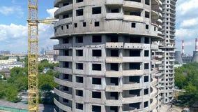 Zwalniam wyszczególniał widok niedokończony windowless wieżowiec zbiory wideo
