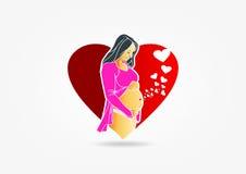 Zwanger embleemontwerp Stock Afbeeldingen