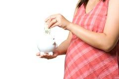 Zwanger geld Royalty-vrije Stock Afbeelding