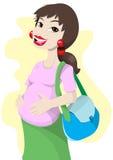 Zwanger mamma Royalty-vrije Stock Foto's