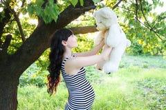 Zwanger meisje Stock Foto's