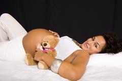 Zwanger meisje. Royalty-vrije Stock Afbeelding