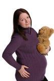 Zwanger meisjesportret royalty-vrije stock afbeeldingen