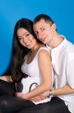 Zwanger ouder-in anticiperen van kind Royalty-vrije Stock Foto