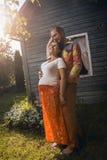 Zwanger paar Royalty-vrije Stock Afbeeldingen