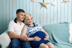 Zwanger paar Royalty-vrije Stock Foto
