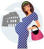 Zwanger in Rome Stock Afbeeldingen
