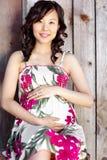 Zwangere Aziatische vrouw Royalty-vrije Stock Foto